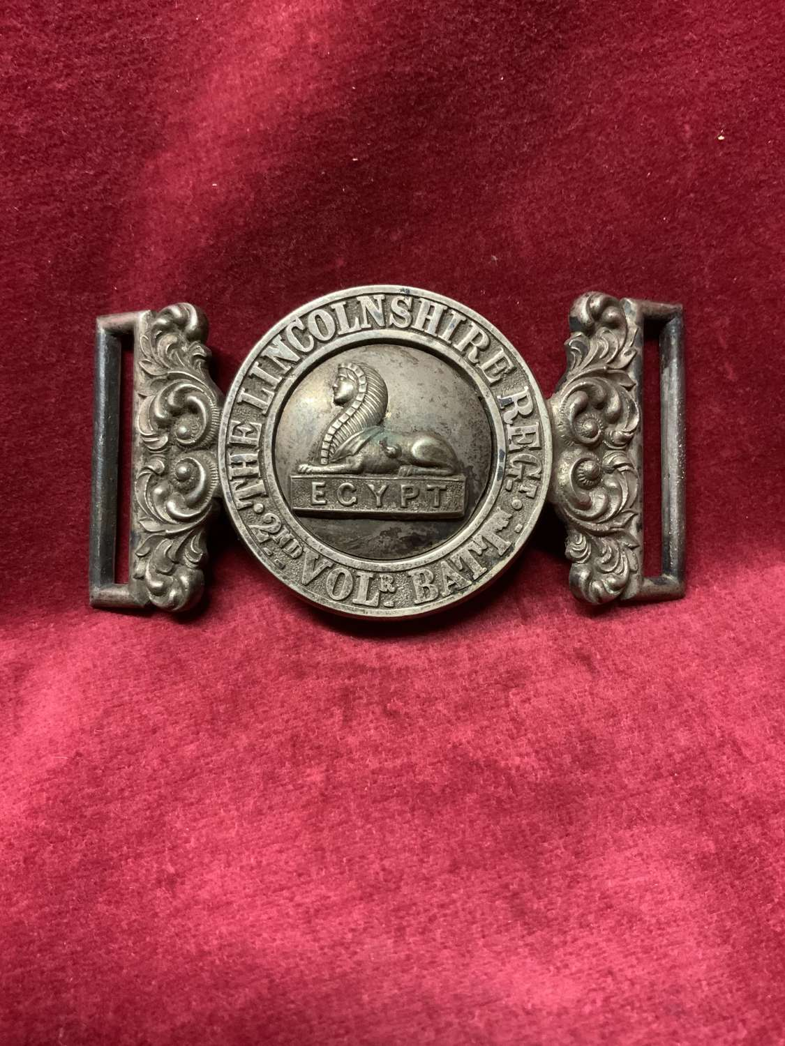 Lincolnshire Regiment, 2nd Volunteer Battalion Waist Belt Clasp.