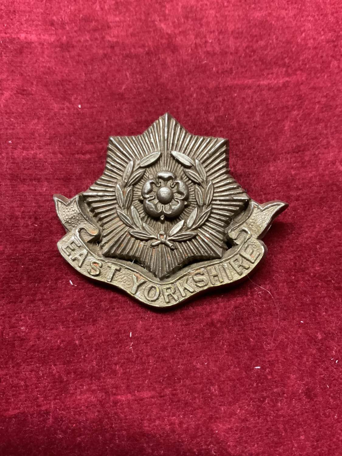 East Yorkshire Regiment Silver Coloured Cap Badge