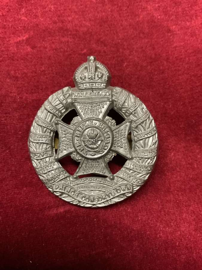 Rifle Brigade Plastic Cap Badge