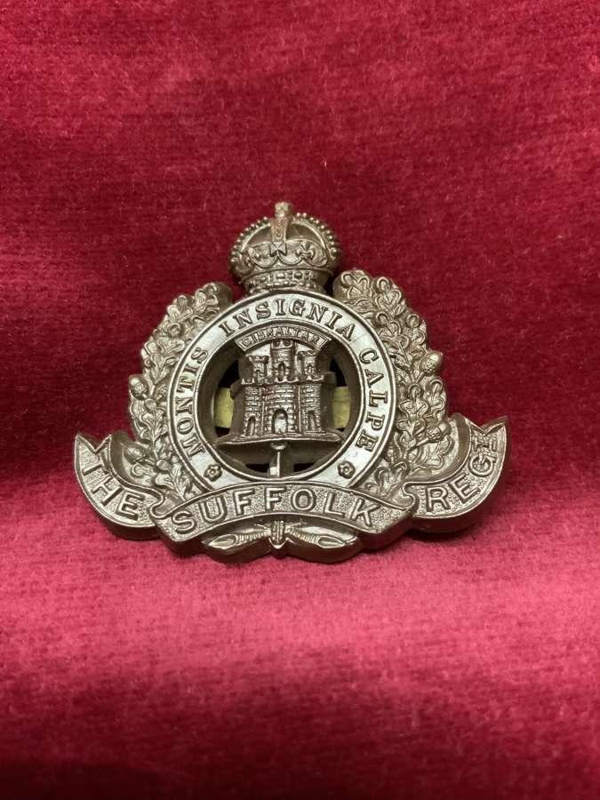 The Suffolk Regiment Plastic Cap Badge Bronze Colour