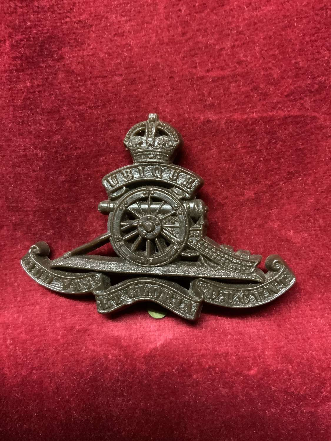 Royal Artillery Brown Coloured Cap Badge