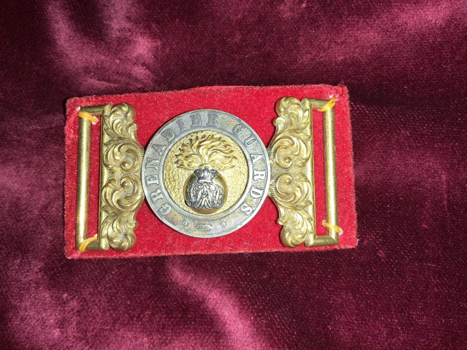 Grenadier Guards, Victorian Officer's Waist Belt Plate.