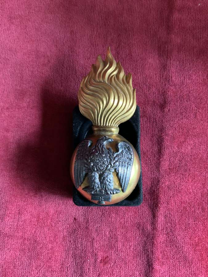 Royal Irish Fusiliers, (Princes Victoria's) Officers Fur Cap Grenade.