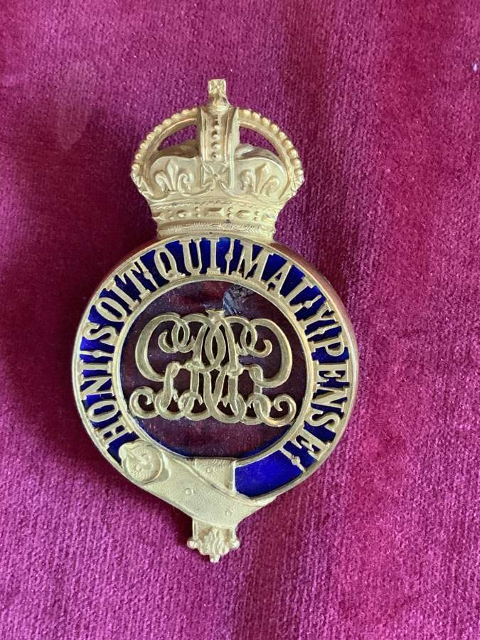Grenadier Guards, Officers Puggaree GR V, Imperial Crown.