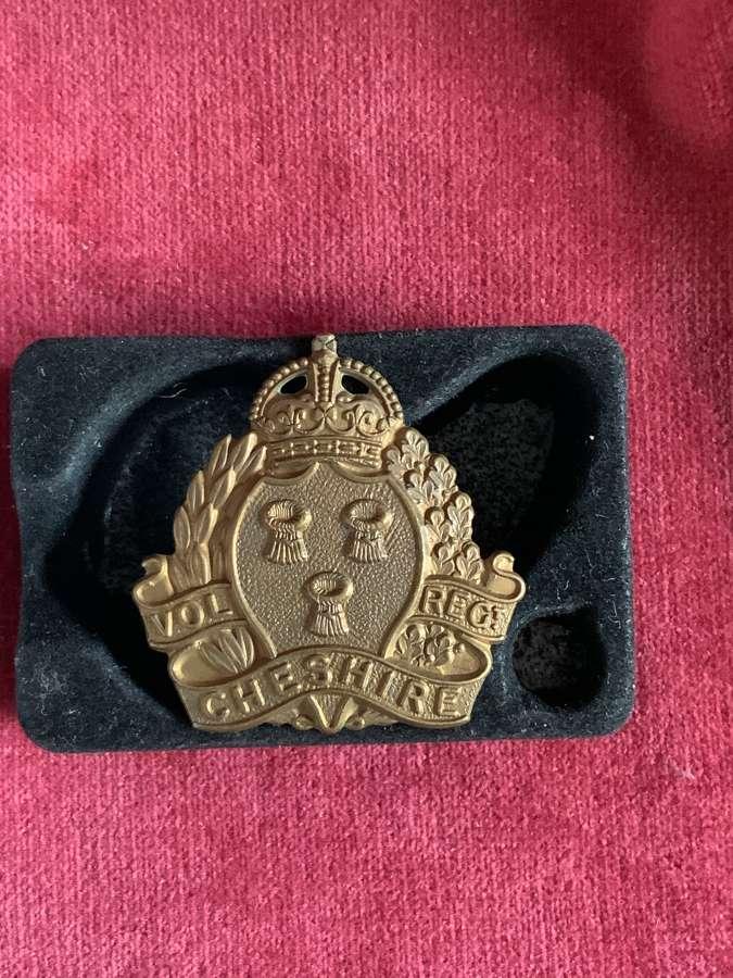Cheshire Volunteer Regiment Other Ranks Cap Badge
