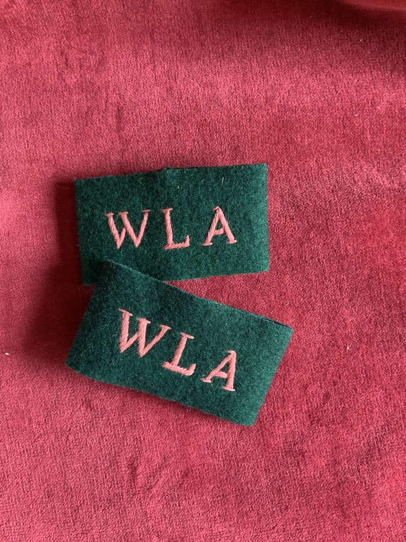 Women's Land Army Slip-on Cloth Epaulette Title's Pair,