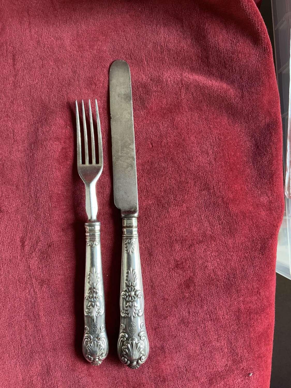 55th Regiment Hallmarked Knife & Fork, Regimental Service