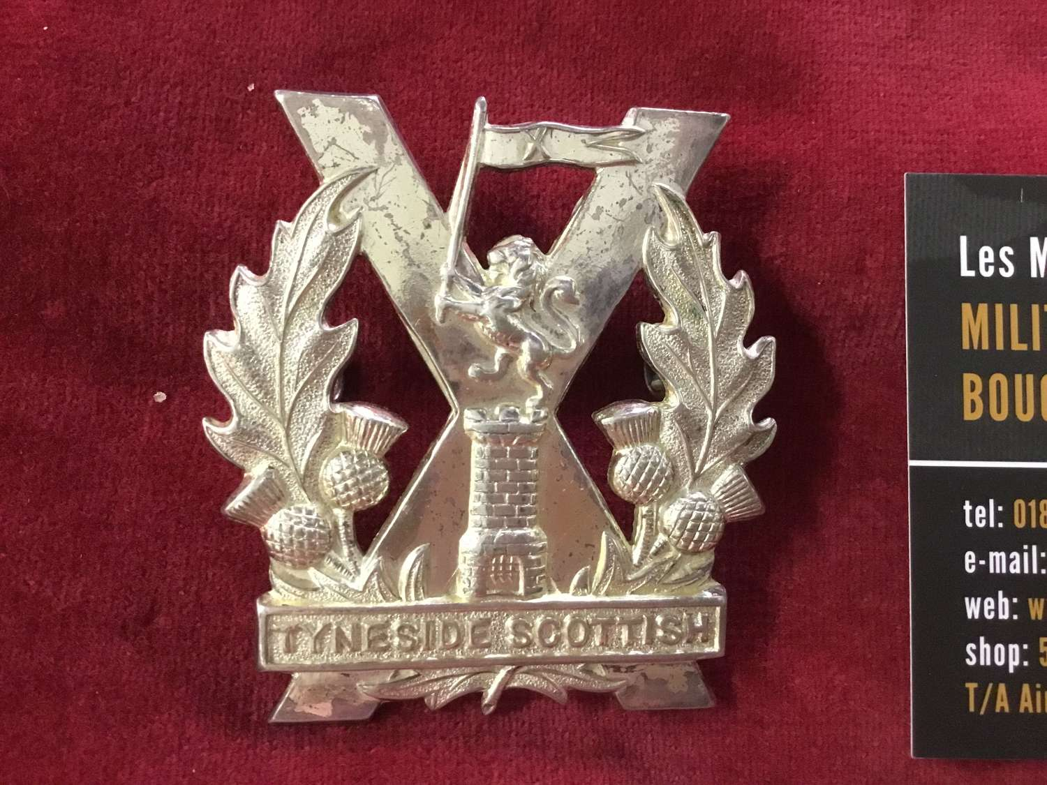 204th (Tyneside Scottish) Bty Royal Artillery Cap Badge