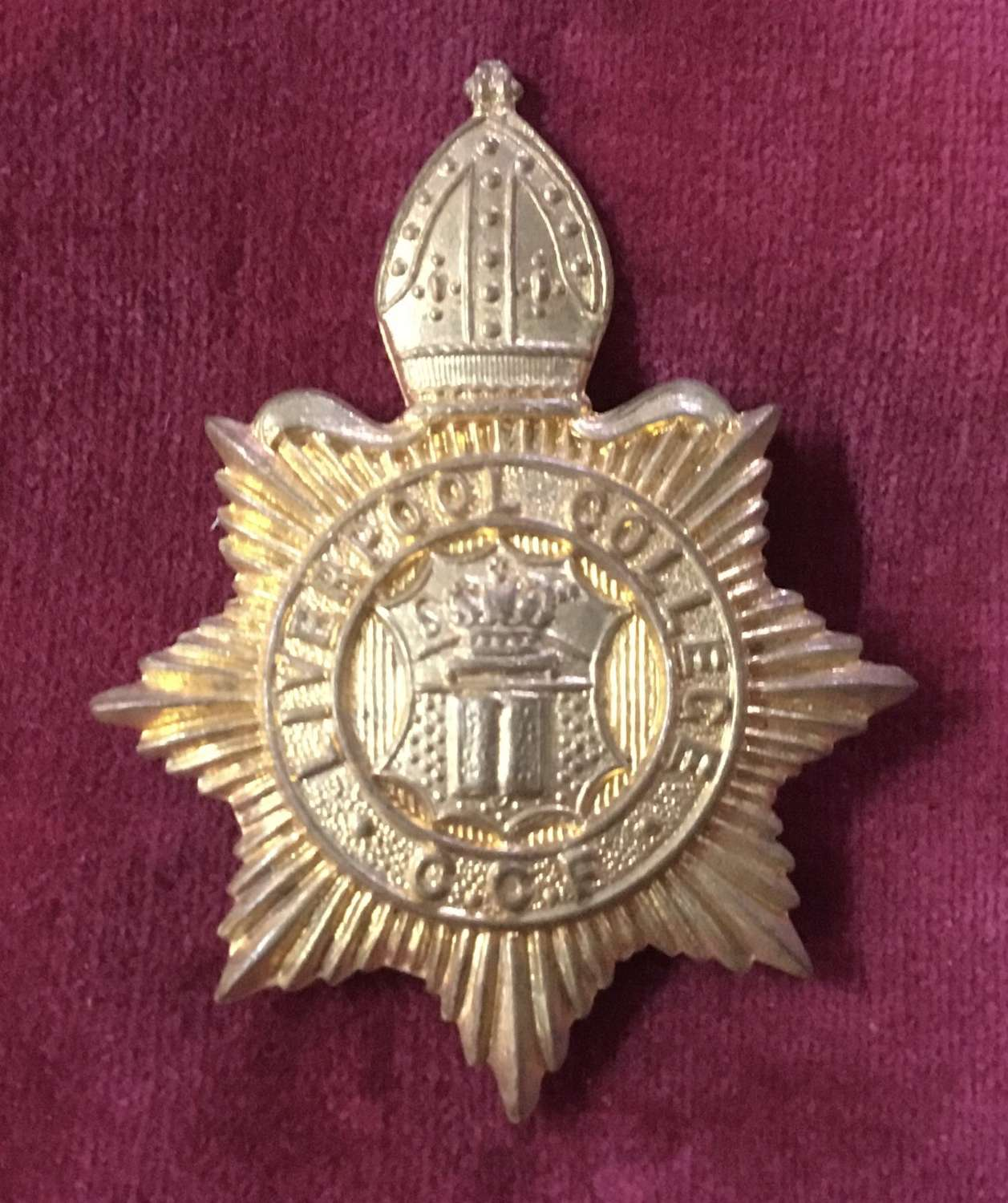 Liverpool College CCF Cap Badge