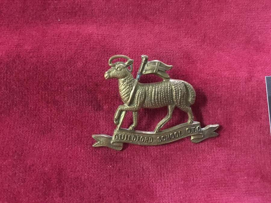 Guildford School OTC Cap Badge