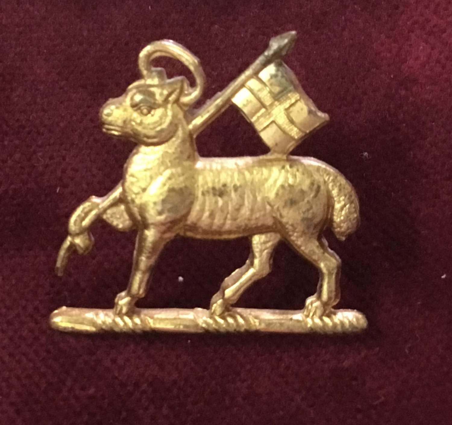 Queens Royal Regiment (West Surrey) Officers Cap Badge