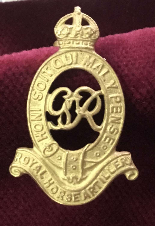 Royal Horse Artillery Officers Cap Badge