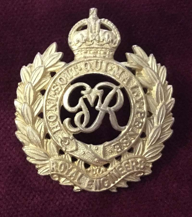Royal Engineers Officers Cap Badge