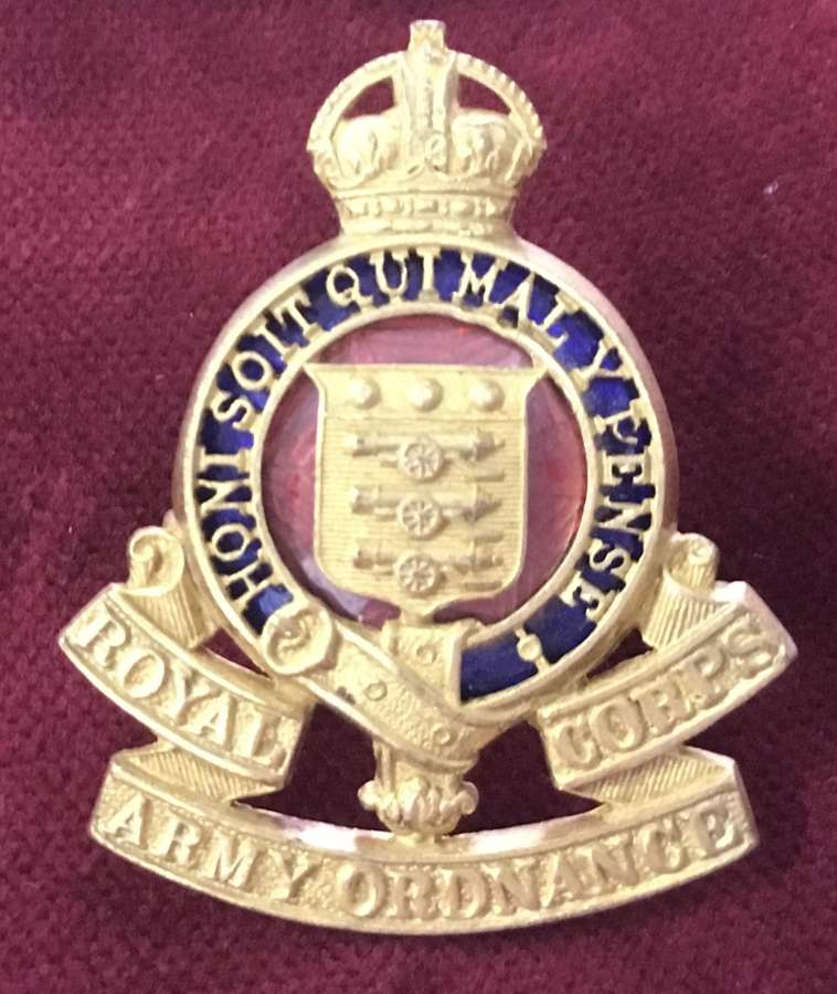 RoyalArmy Ordnance Corps Officers Cap Badge