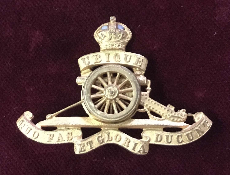Royal Artillery Officers Cap Badge
