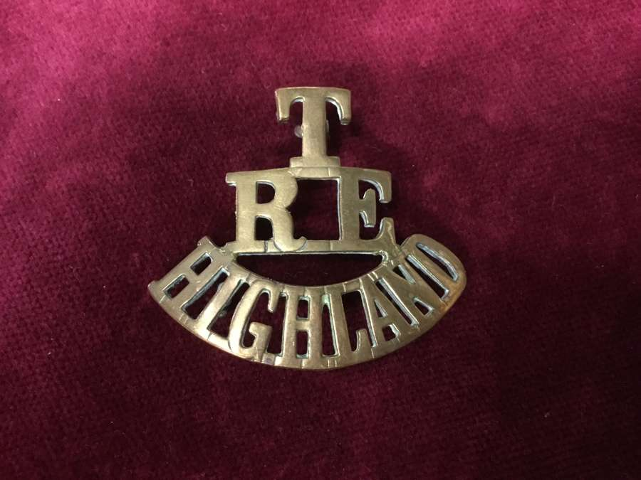 Royal Engineers Highland Shoulder Title