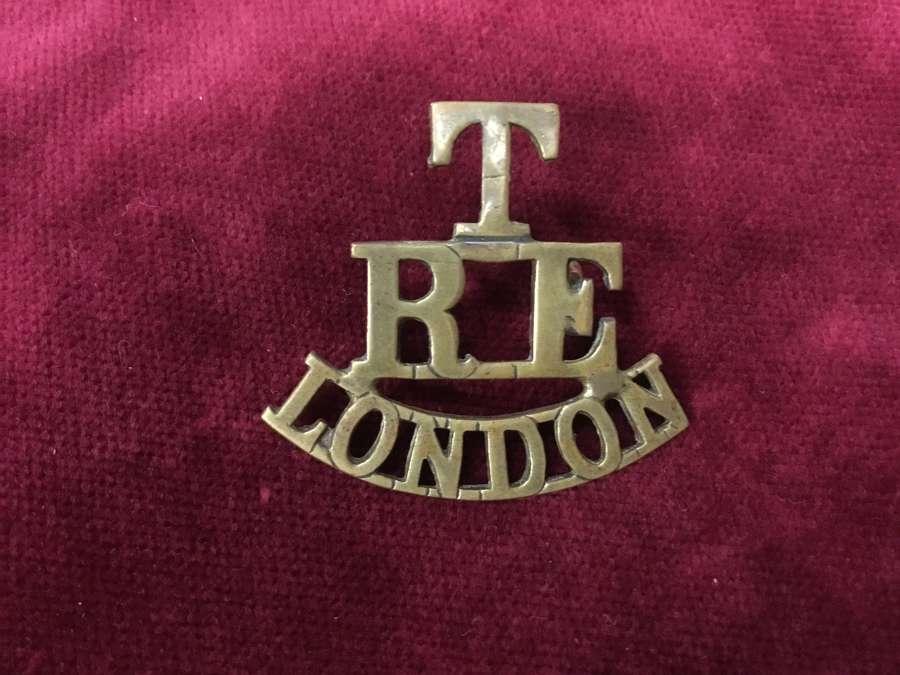 Royal Engineers London Shoulder Title