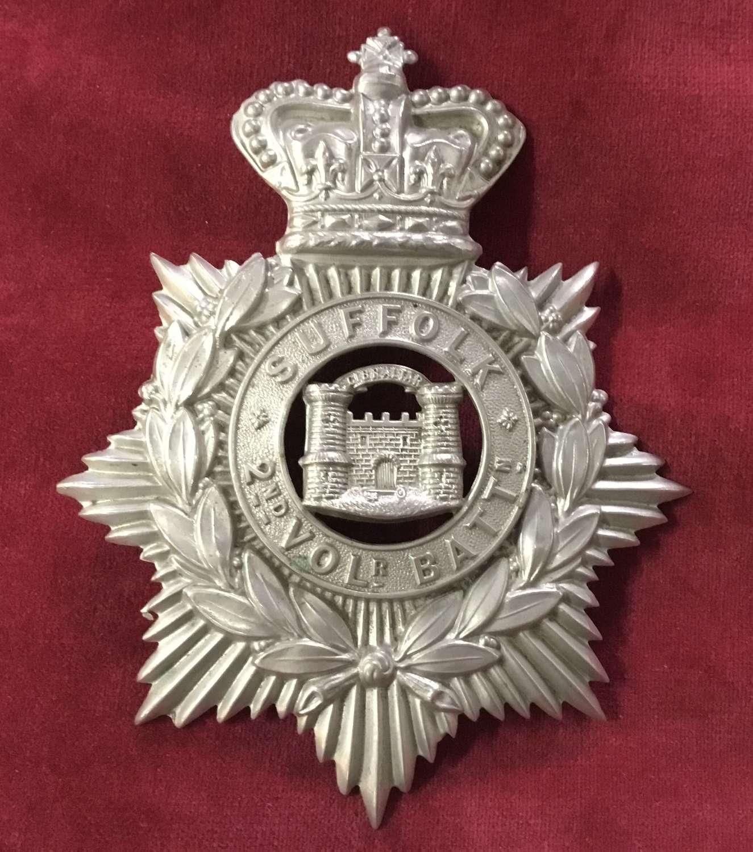 2nd Volunteer Bn Suffolk Regiment Home Service Helmet Plate
