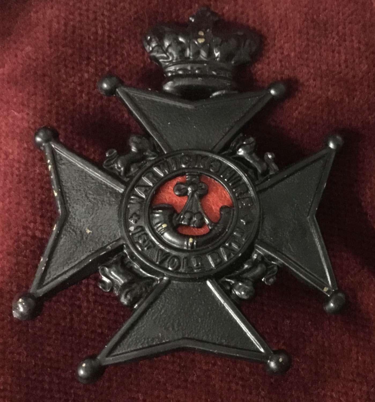 1st Volunteer Bn Warwickshire Regt cap badge