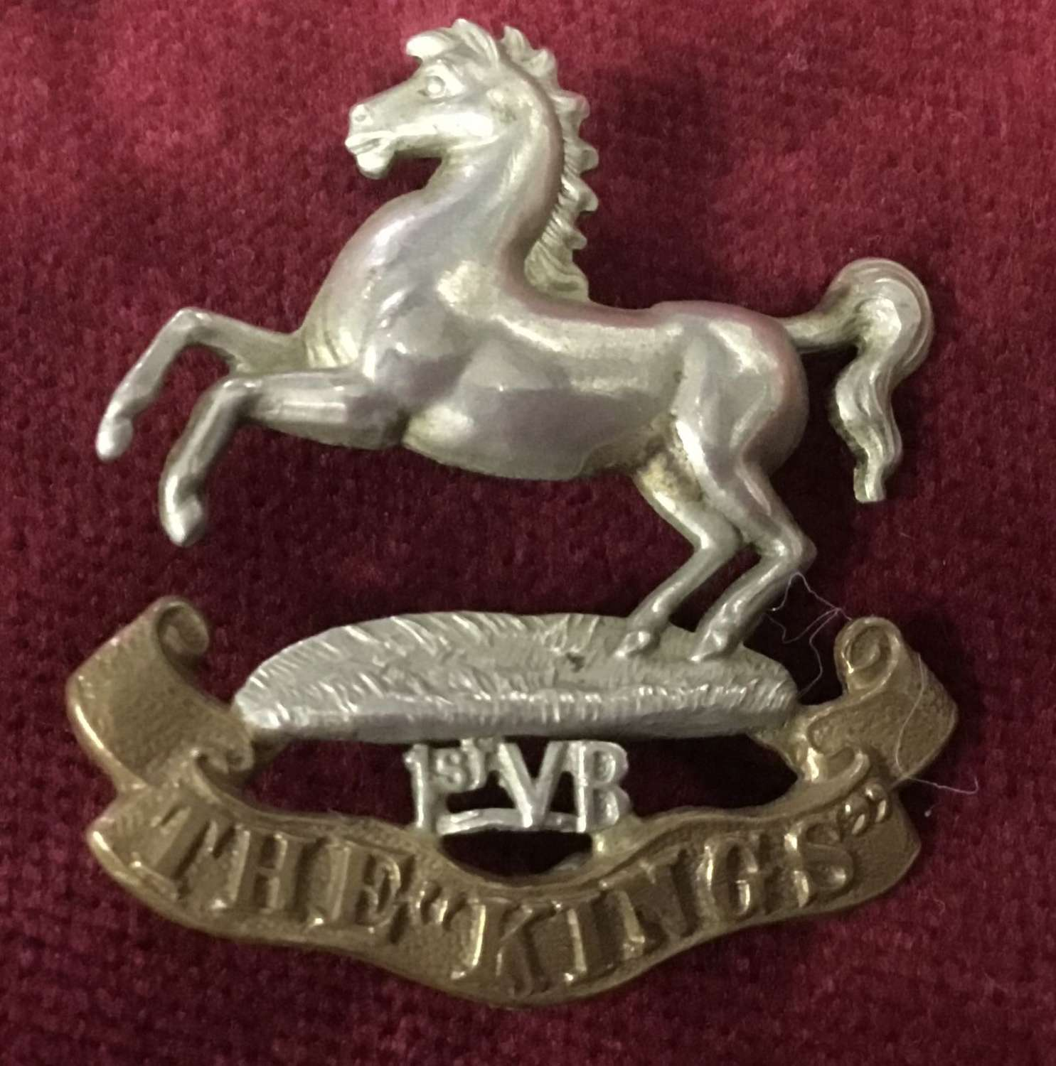1st Volunteer Bn Kings Liverpool Regt cap badge
