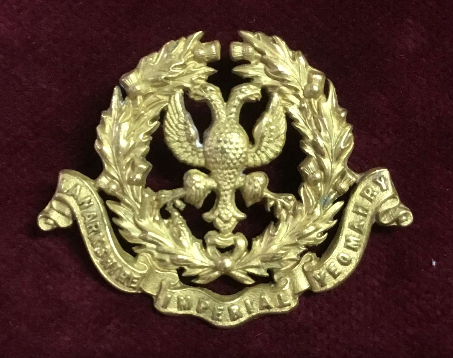 Lanarkshire Imperial Yeomanry Cap Badge