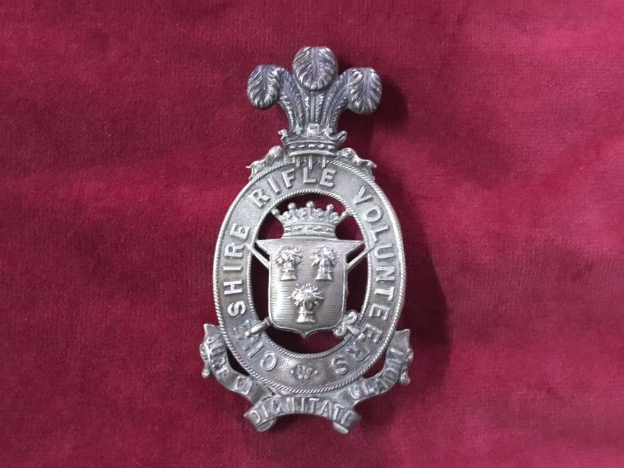Cheshire Rifle Volunteers Officers Shoulder Belt Plate