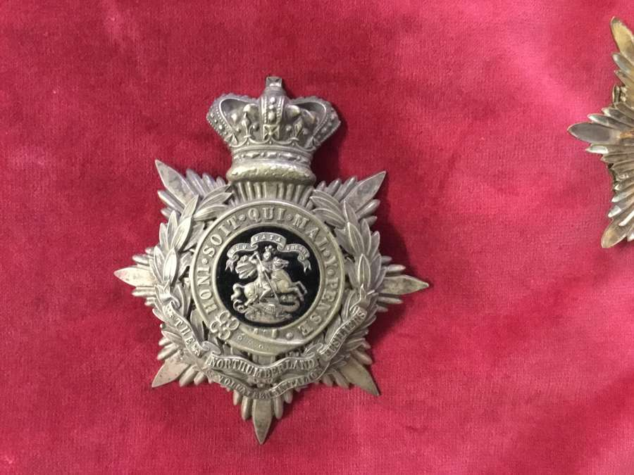 1st VB Northumberland Fusiliers Home Service Helmet Plate