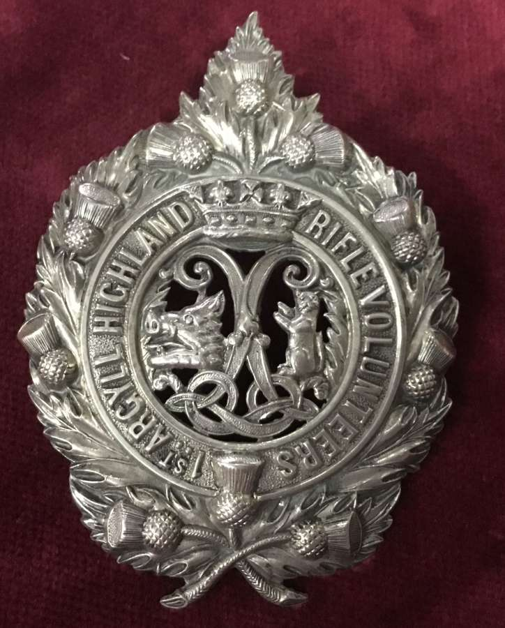 1st Argyll Highland Rifle Volunteers Glengarry Badge
