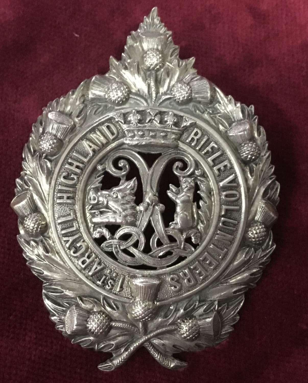 1st Argyll Highland Rifle Volunteers Glengarry Badge