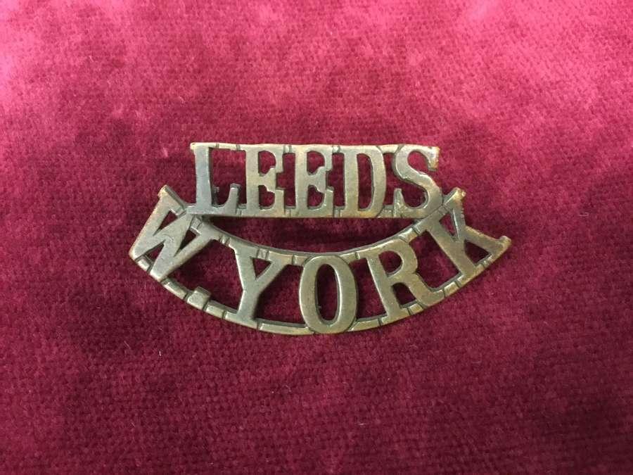 15th/17th Bn's (Leeds) West Yorkshire Regt Shoulder Title