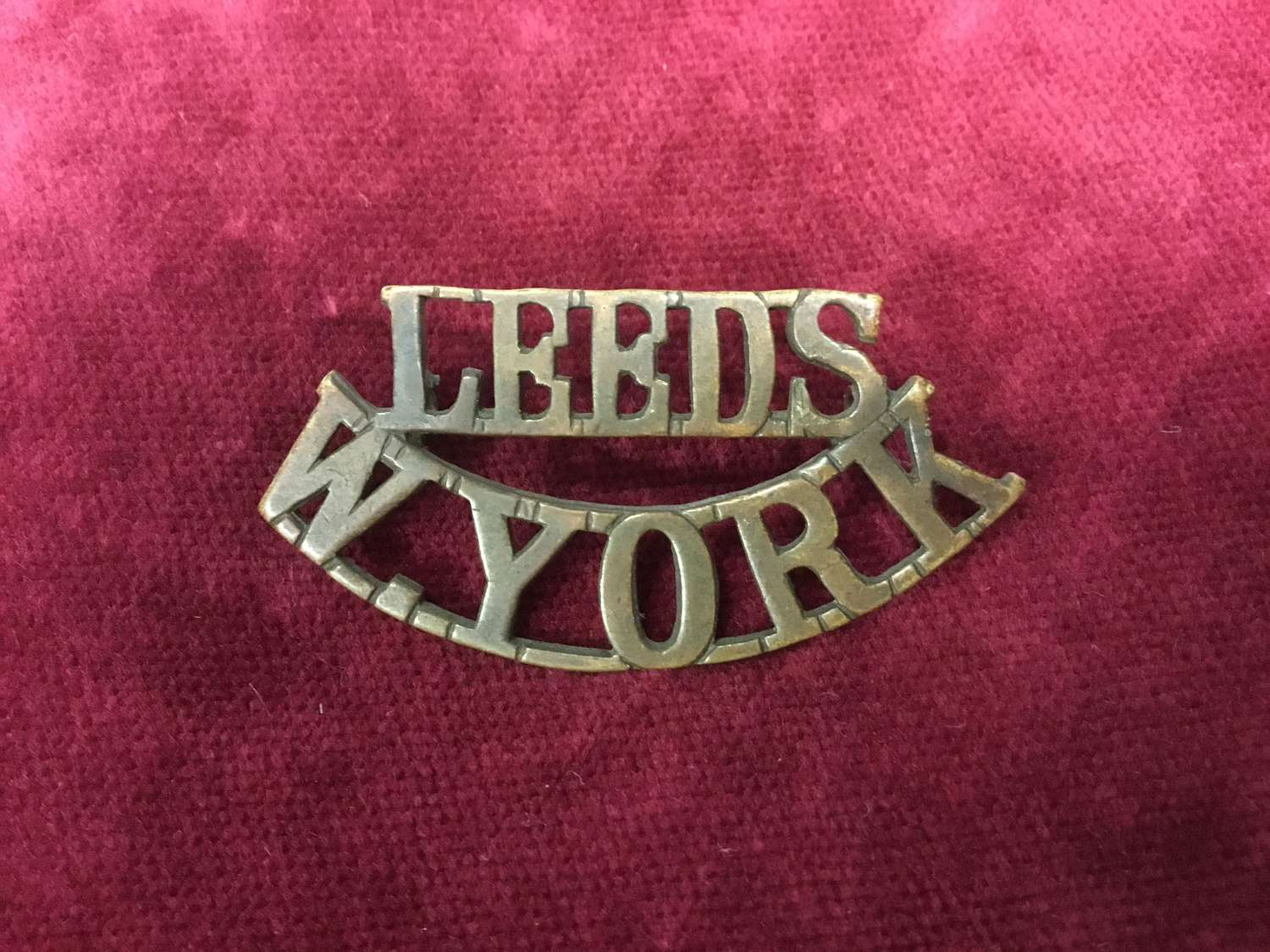 15th/17th Bn's (Leeds) West Yorkshire Regt Shoulder Title