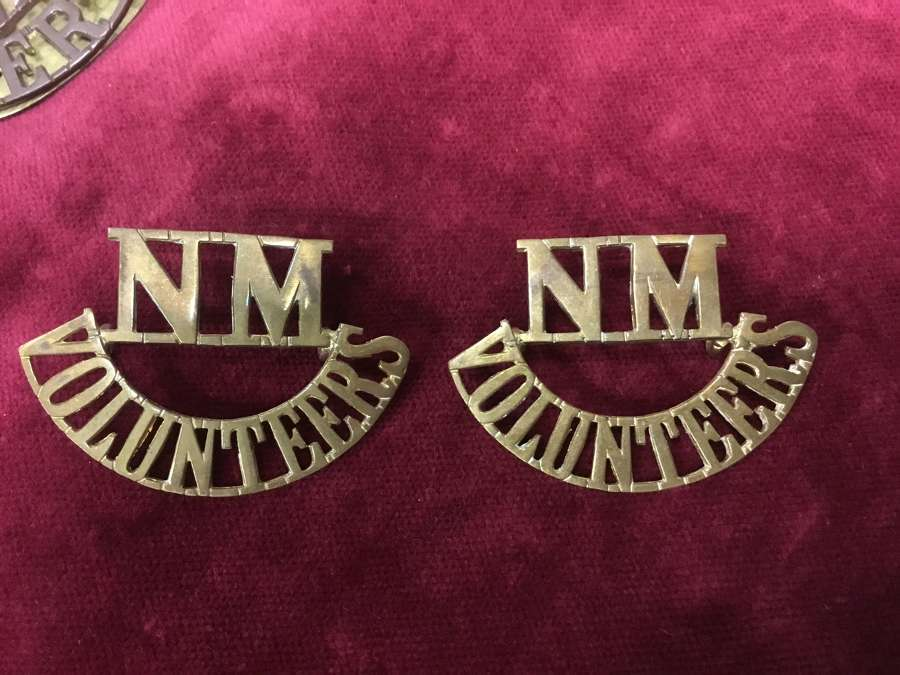 National Motor Volunteers VTC Shoulder Title Pair