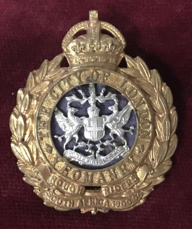 City of London Yeomanry (Rough Riders) Cap Badge