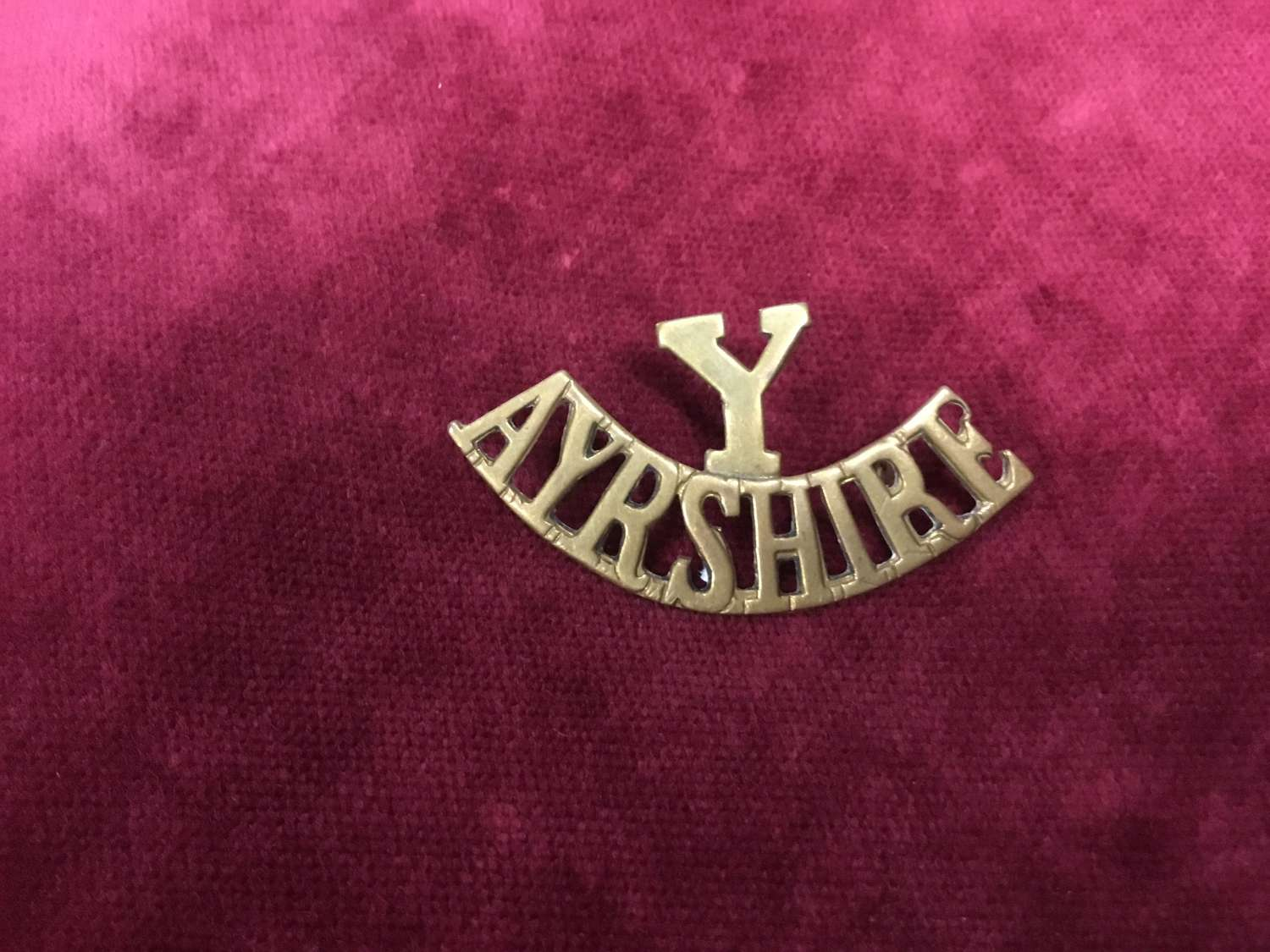 Ayrshire (Earl of Carricks Own) Yeomanry- Y Shoulder Title
