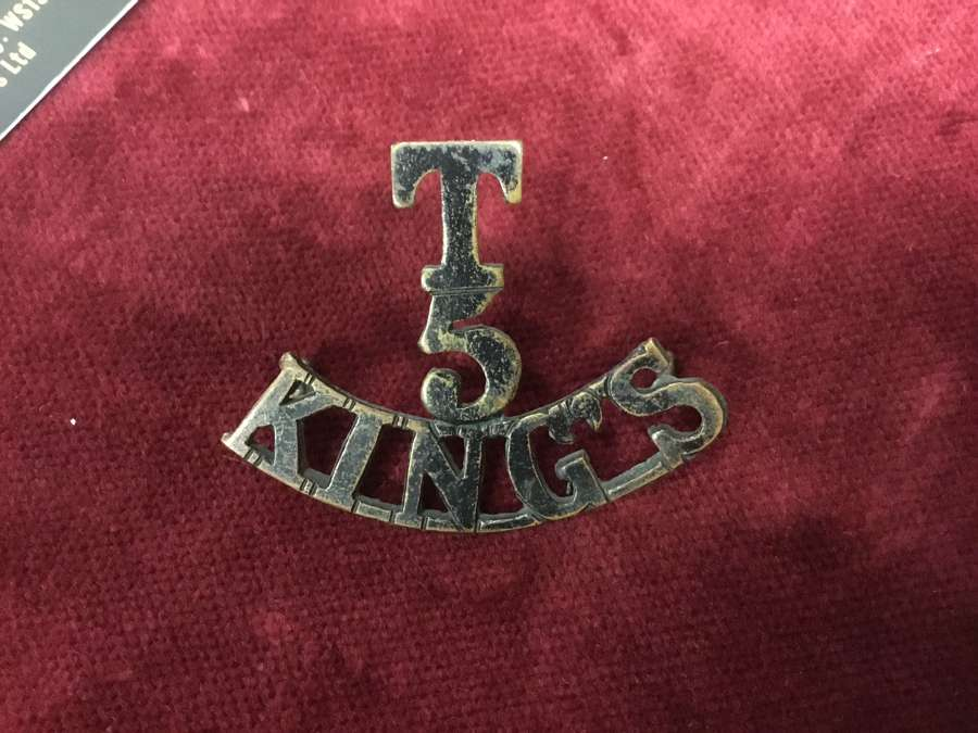 5th TF Kings Liverpool Regt Shoulder Title