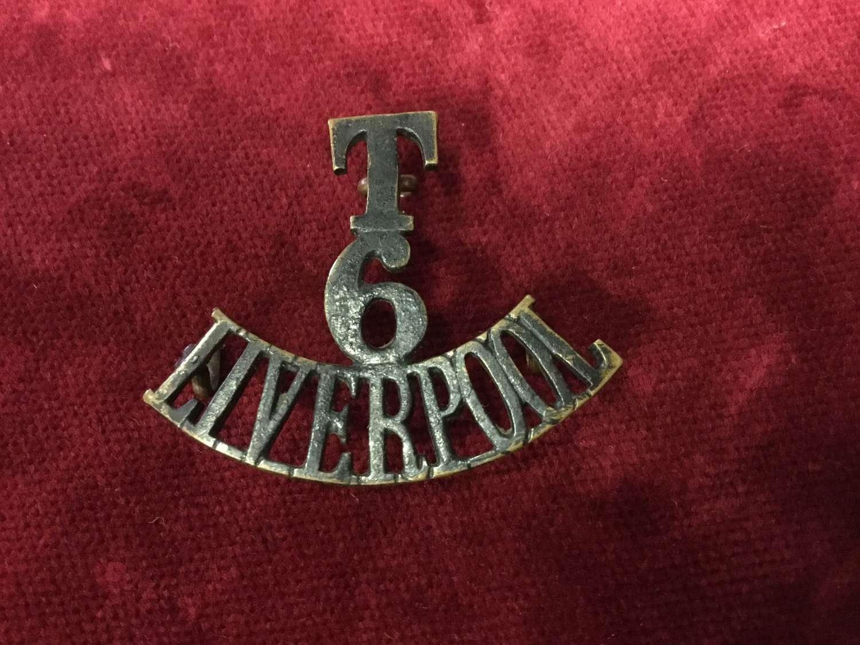 6th Bn Kings Liverpool Regt Shoulder Title