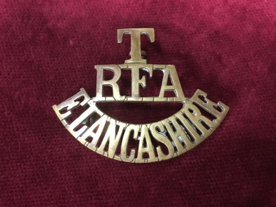 Territorial Artillery East Lancashire Shoulder Title