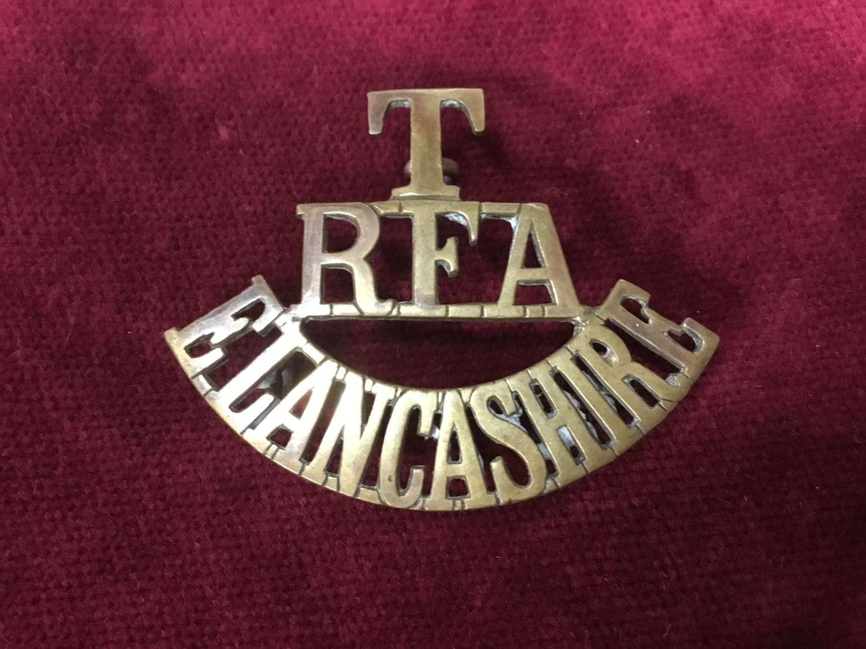 Territorial Artillery East Lancashire Shoulder Title