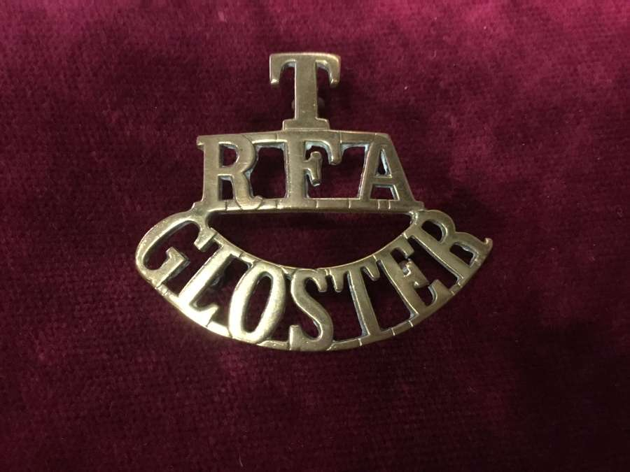 Territorial Artillery Gloster Shoulder title