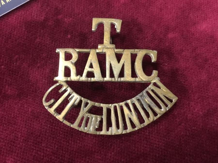 Territorial Royal Army Medical Corps Shoulder Title