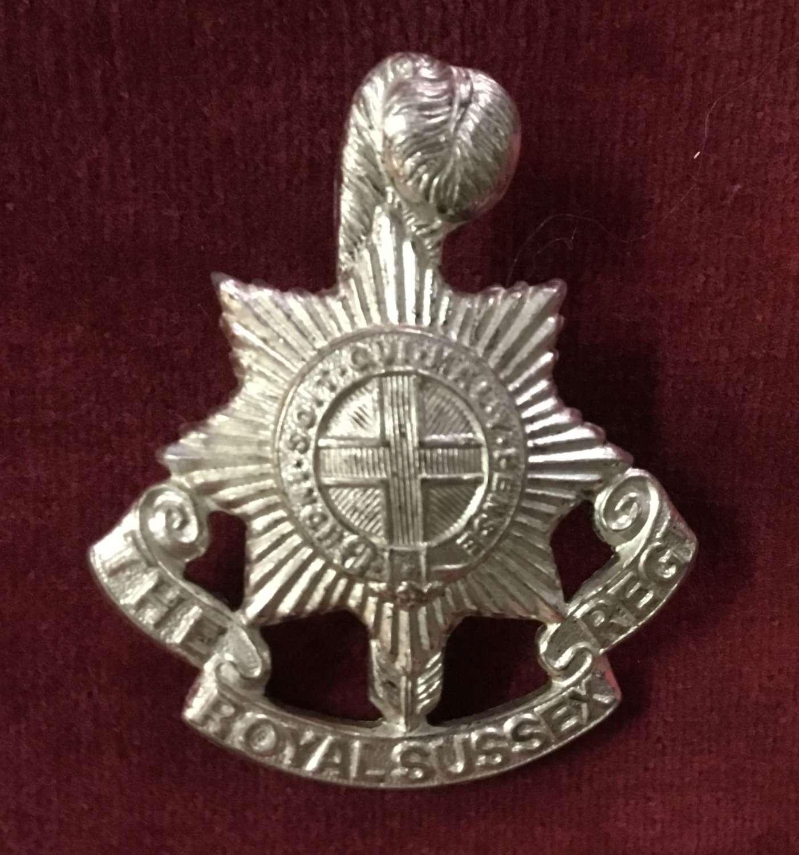 The Royal Sussex Regiment Officers Cap Badge