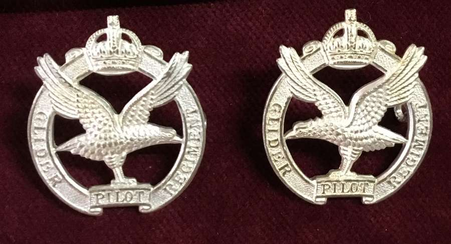 Glider Pilot Regiment Officers Collar Badges