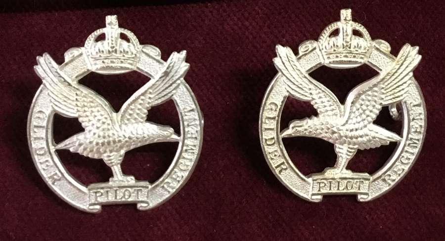 Glider Pilot Regiment Officers Collar Badges