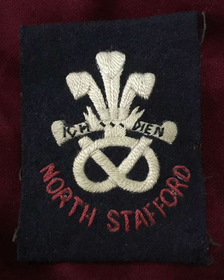 North Staffordshire Regiment Cloth Pagri Insignia