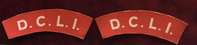 Duke of Cornwall's Light Infantry Printed Shoulder Title Pair