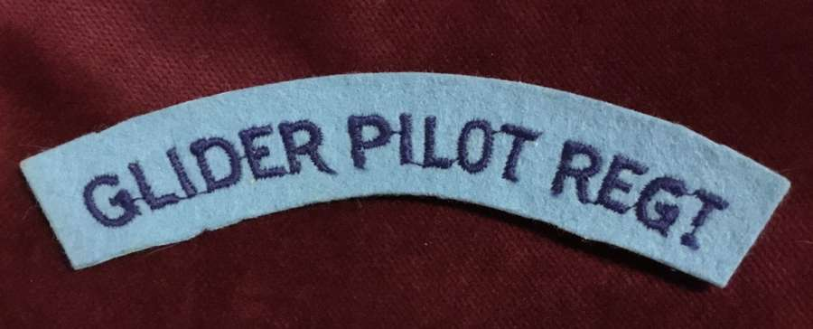 Glider Pilot Regiment Embroidered Shoulder Title