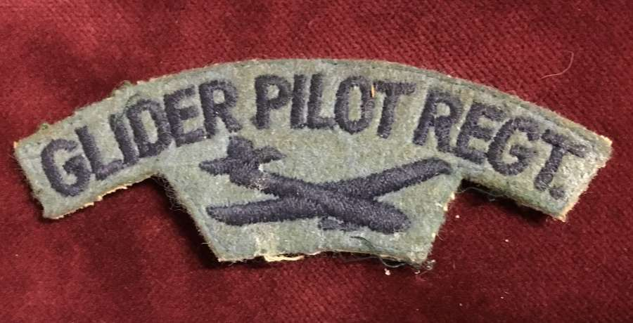 Post War Glider Pilot Regt Embroidered Shoulder Title