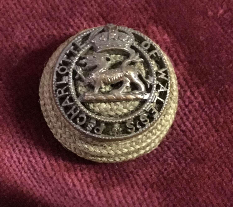 Royal Berkshire Regt Officers Corded Boss Badge