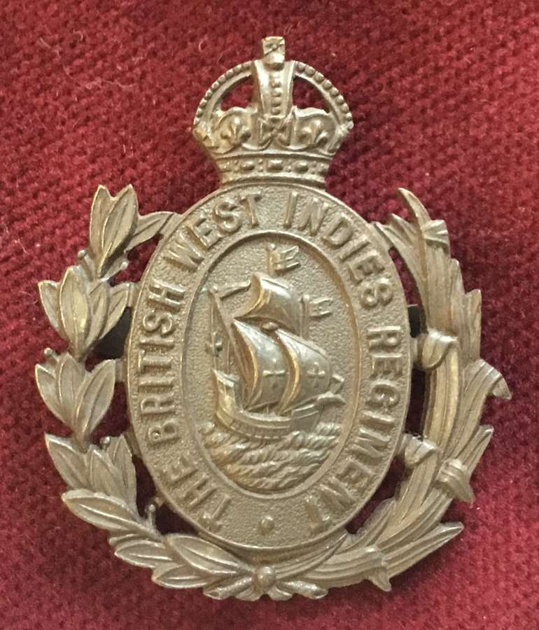 West Indies Regiment Officers Service Dress Cap Badge