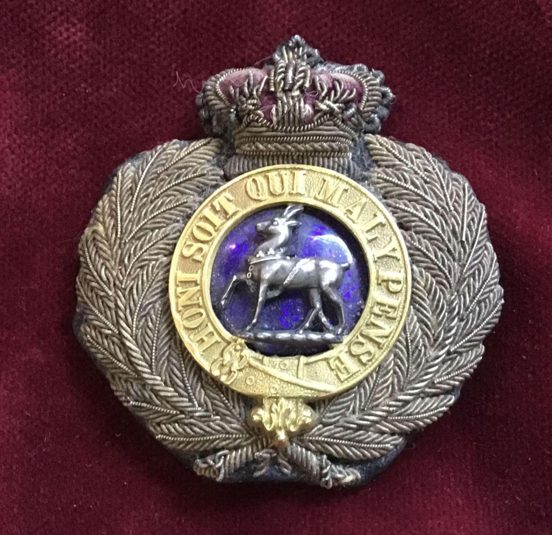 Royal Warwickshire Regt Officers Forage Cap Badge